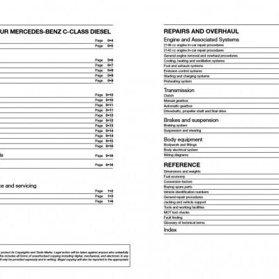 Mercedes Benz C-class Diesel W204 2007-14