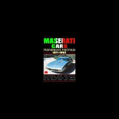 Maserati Cars Performance Porfolio 1971-82
