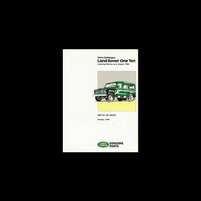 Land Rover One Ten (up to 8-86) Parts Catalog