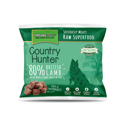 Country Hunter Cão / Nuggets congelados Borrego / Sem Cereais