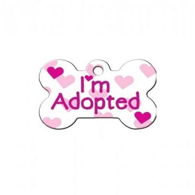 """Osso """"I'm Adopted"""" Branco"""