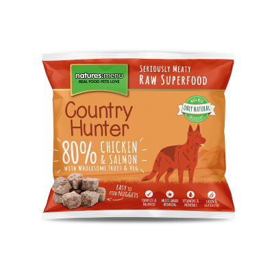 Country Hunter Cão / Nuggets congelados Frango com Salmão / Sem Cereais