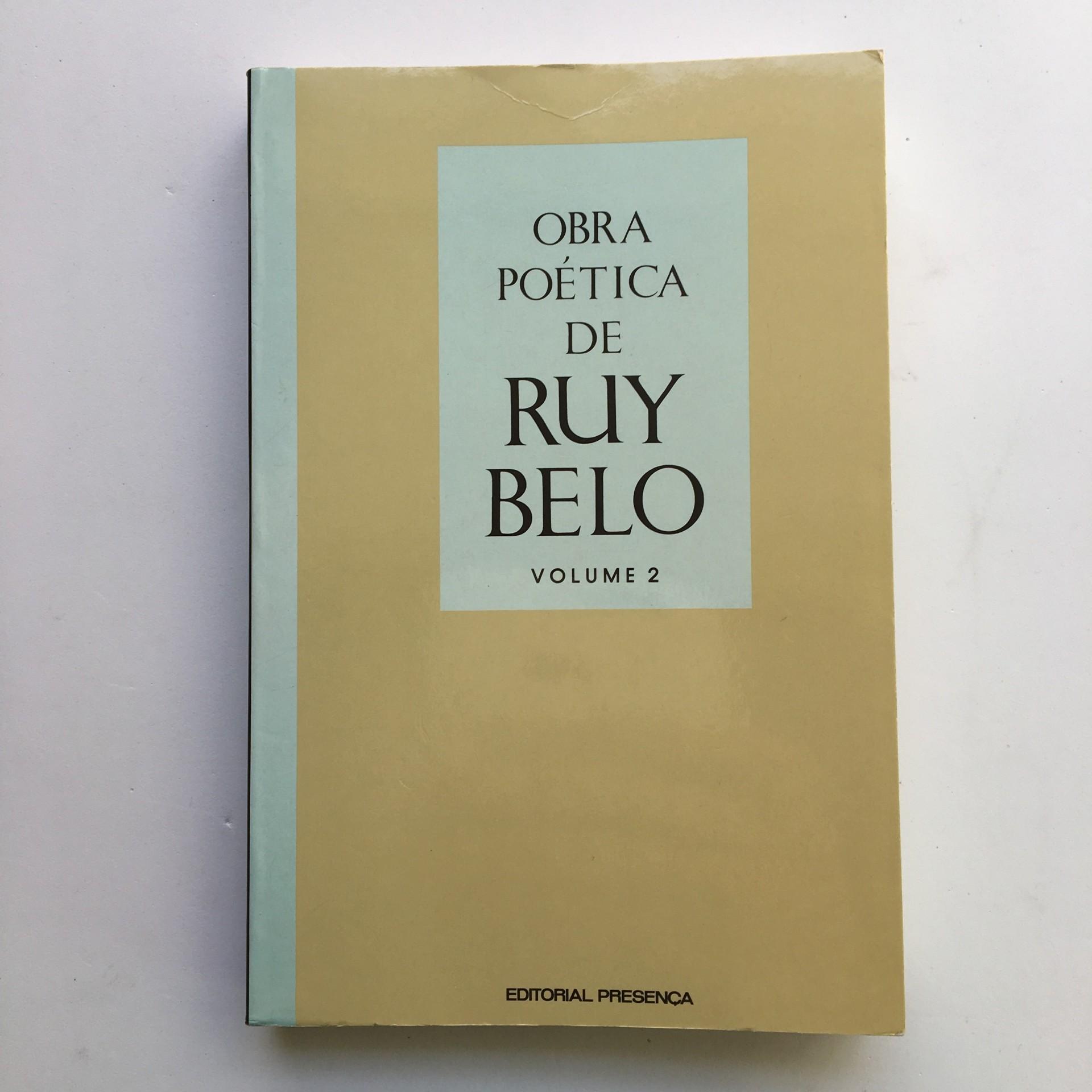 Obra Poética de Ruy Belo volume 2