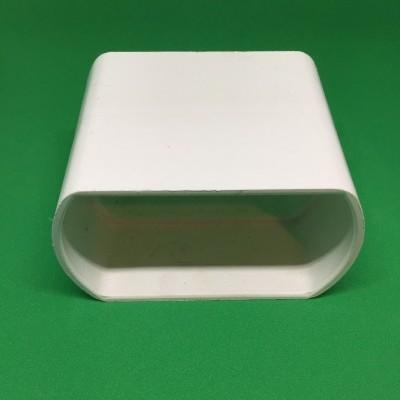 União PVC branco para perfil furado Ø80