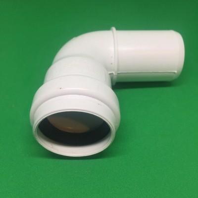 Joelho PVC DIN Branco 90º Ø32 mm