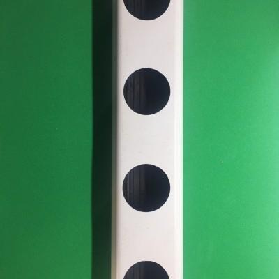 1 metro Perfil Hidropónico PVC Furado de 49 mm - Linhas dos Berçários