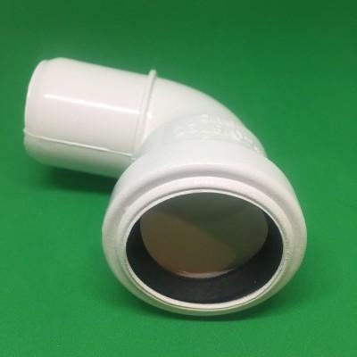 Joelho PVC DIN Branco 90º Ø40 mm