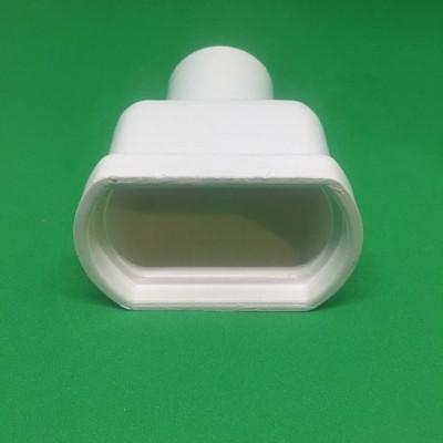 Topo PVC  c/ descarga Ø32 p/ perfil furado 49 mm