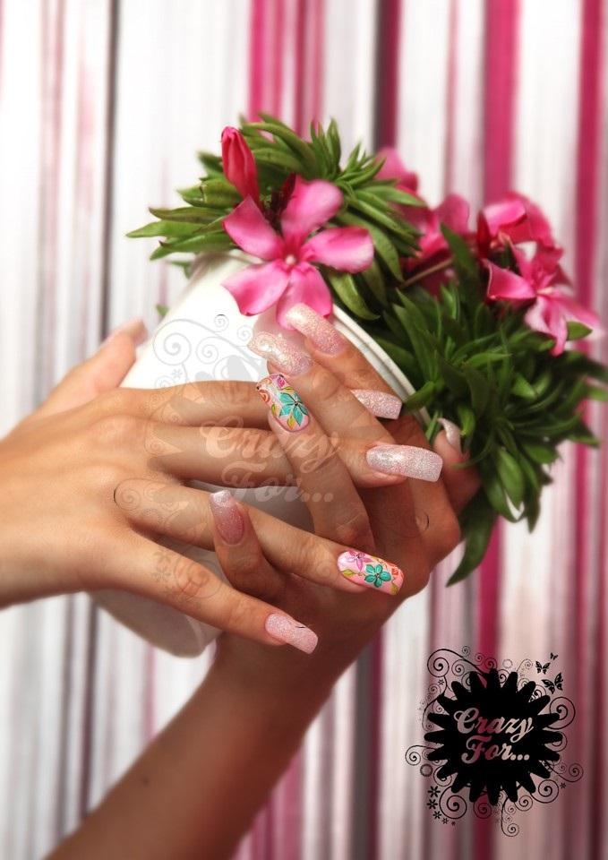 Poster Flores e Glitter