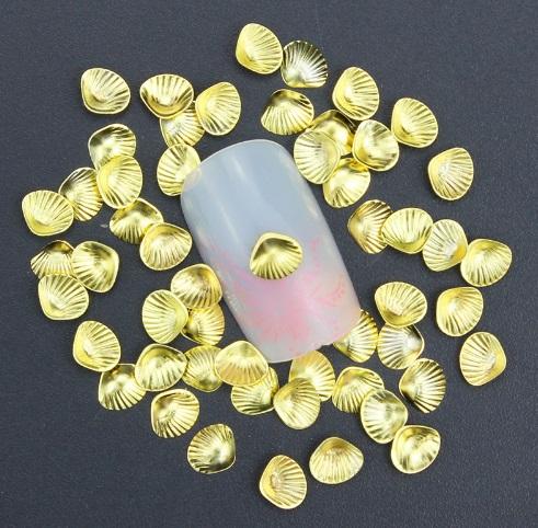 Conchas douradas 3D