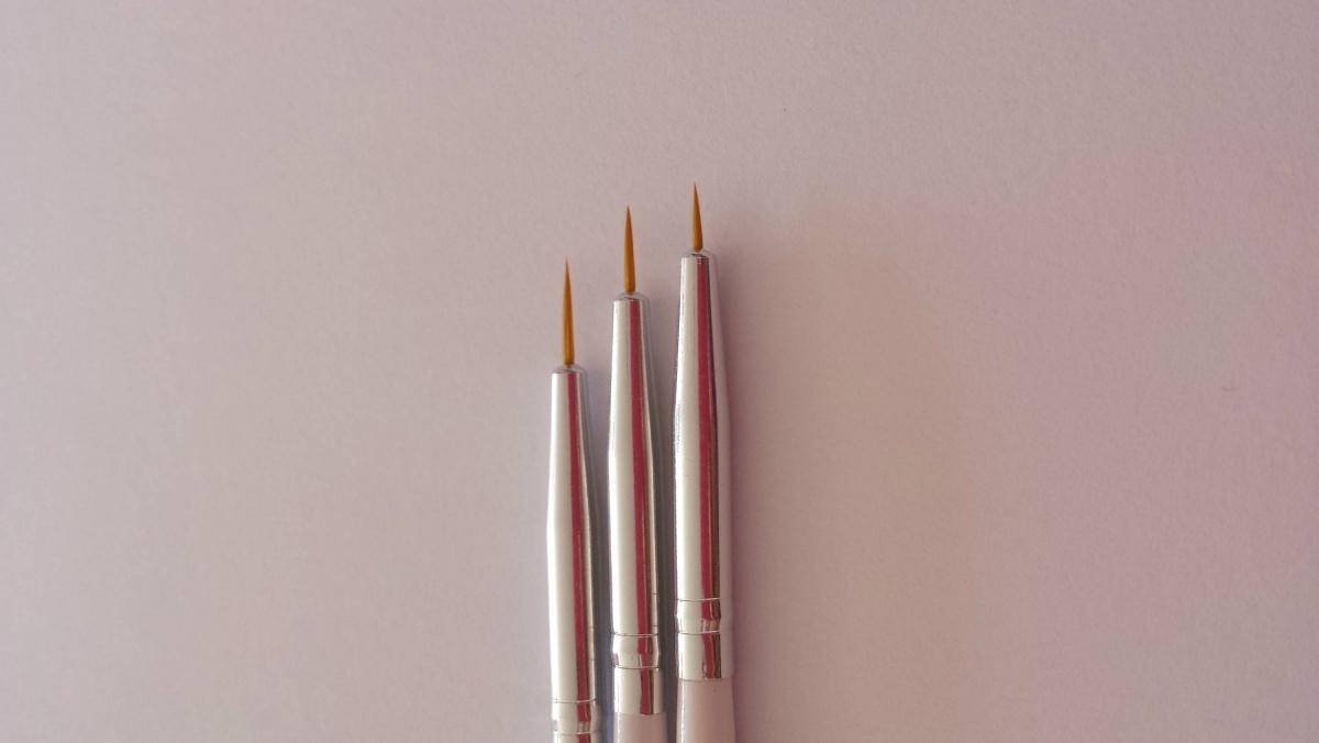 Conjunto de 3 Pinceis de Desenho