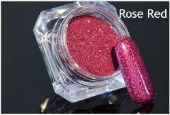 Glitter Holográfico Rose Red