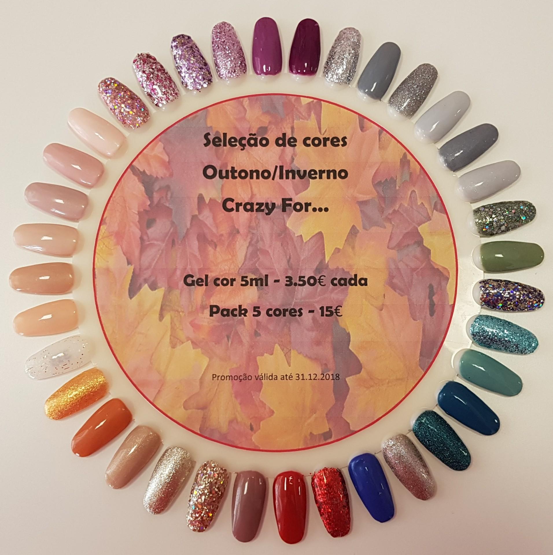 Promoção Gel cor Outono/Inverno - Pack 5 cores