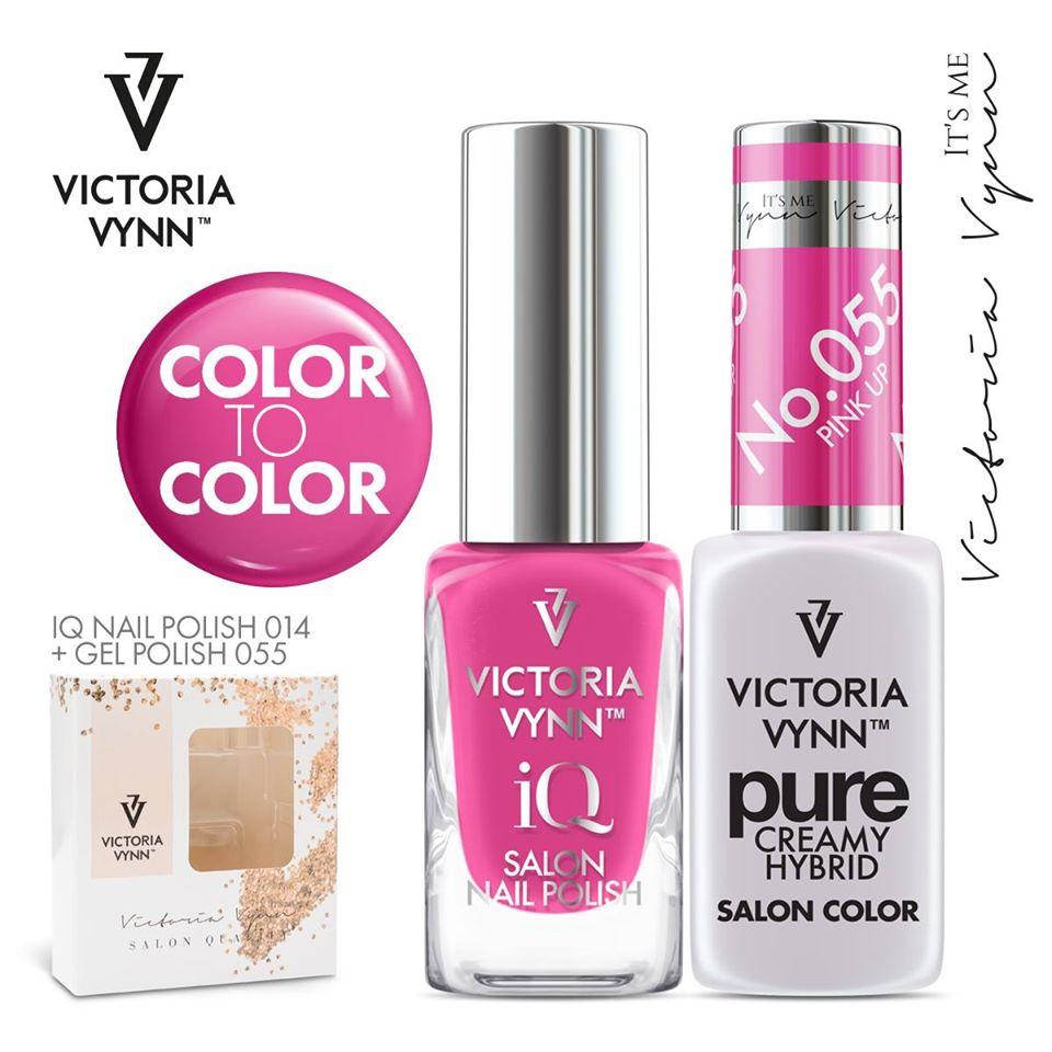 Conjunto Verniz iQ + Verniz Gel Victoria Vynn - 014