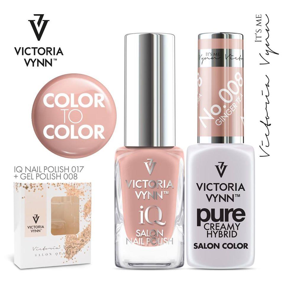 Conjunto Verniz iQ + Verniz Gel Victoria Vynn - 017