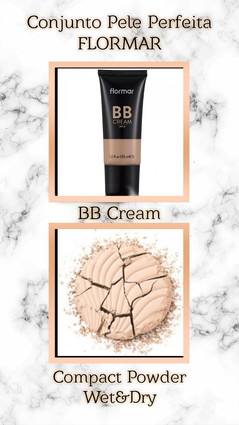 Conjunto pele perfeita  FLORMAR - BB CREAM + COMPACT POWDER
