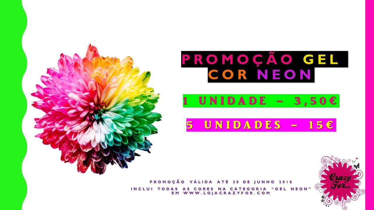 Promoção Gel cor Neon - Pack 5 cores