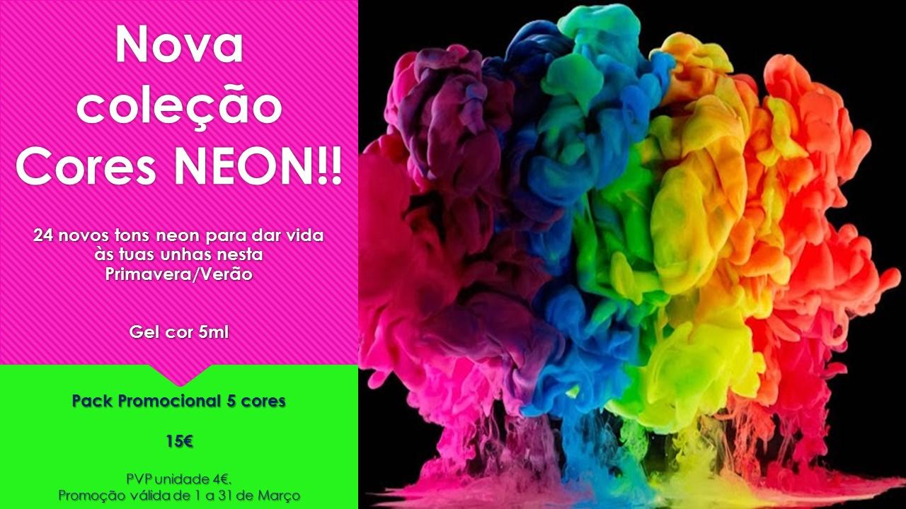 Promoção Pack 5 cores Neon