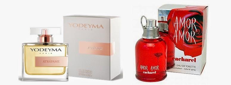 Perfume Atrápame (equiv. Amor Amor - Cacharel)