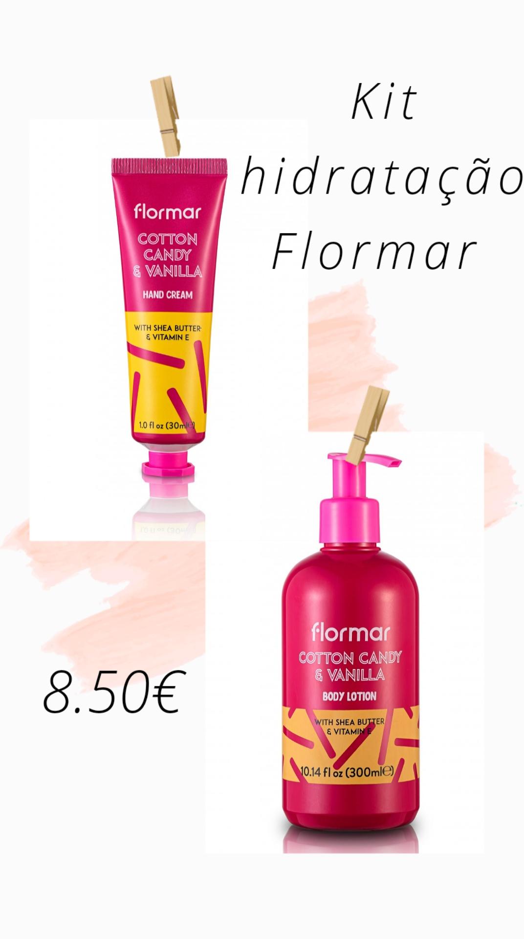 FLORMAR - Kit Hidratação - COTTON CANDY & VANILLA