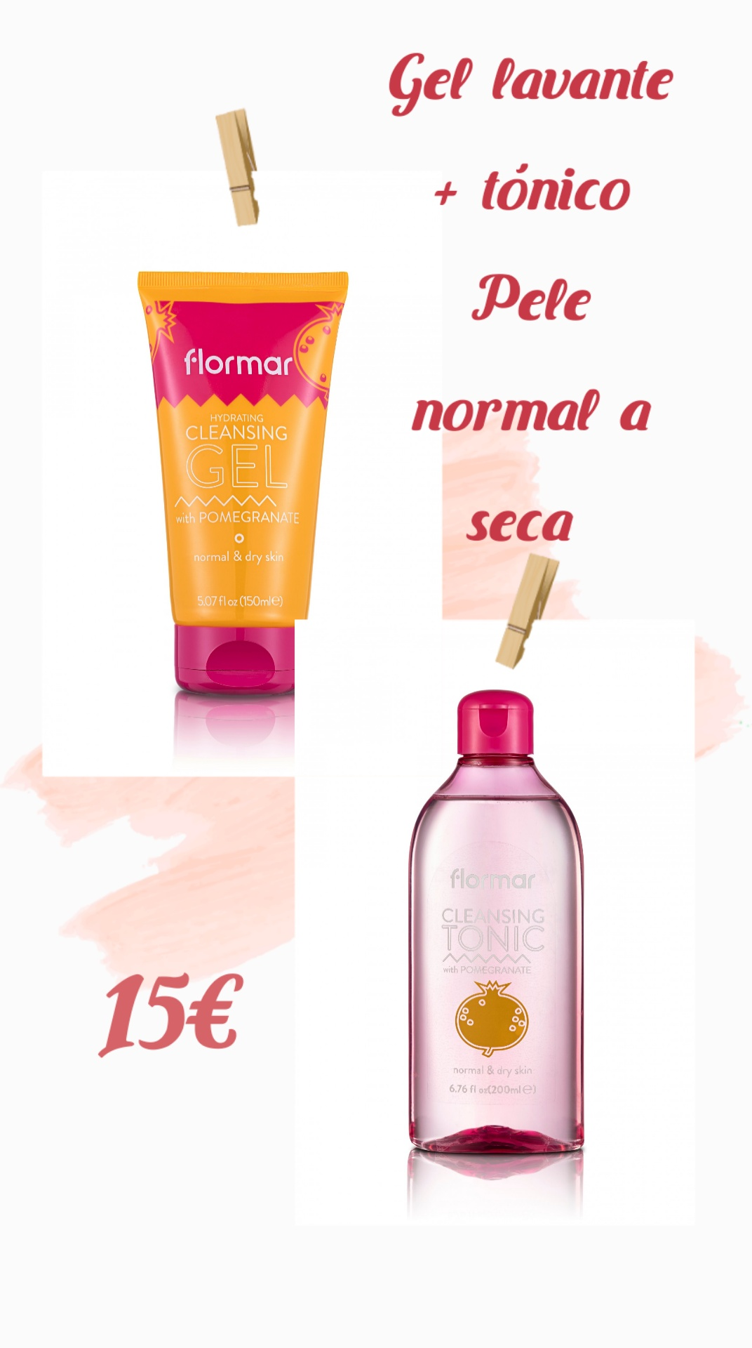 Flormar Kit Skin Care Pele Normal a Seca