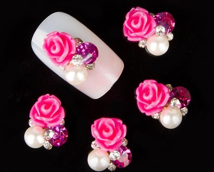 Aplicação 3D rosa e brilhantes