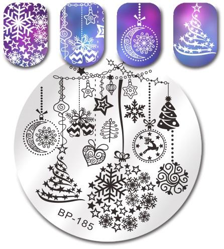 Placa de Carimbo Christmas 1