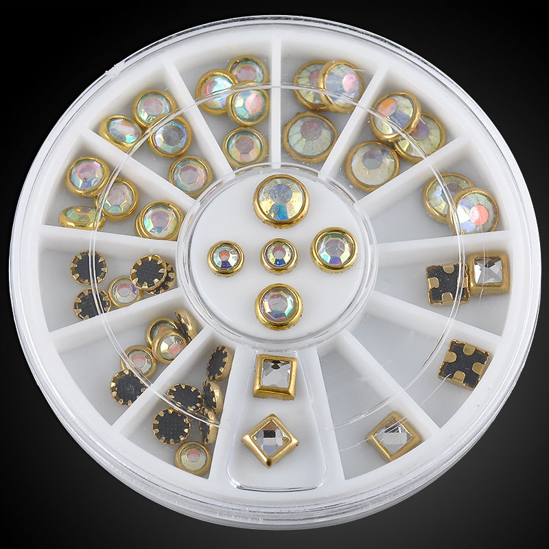 Roda Brilhantes AB Redondos/Quadrados com Dourado