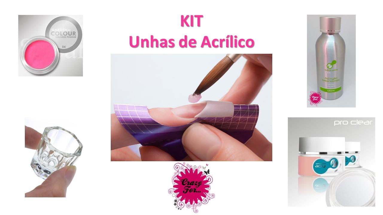Kit Unhas de Acrílico