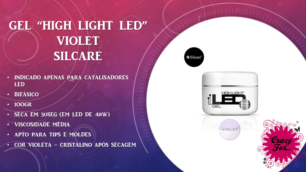 Gel High Light LED - Violet 100gr