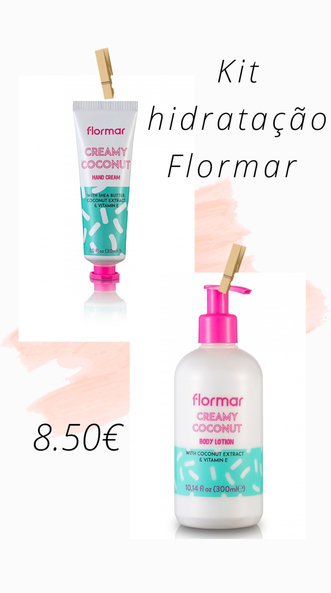 FLORMAR - Kit Hidratação - CREAMY COCONUT