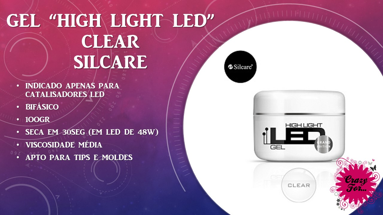 Gel High Light LED - Clear 100gr