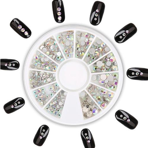 Roda Brilhantes cristal AB 4 tamanhos