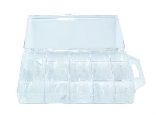 Caixa de 100 Tips Transparentes