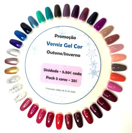 """PROMOÇÃO """"Pack 5 cores Verniz Gel """" Outono/Inverno"""