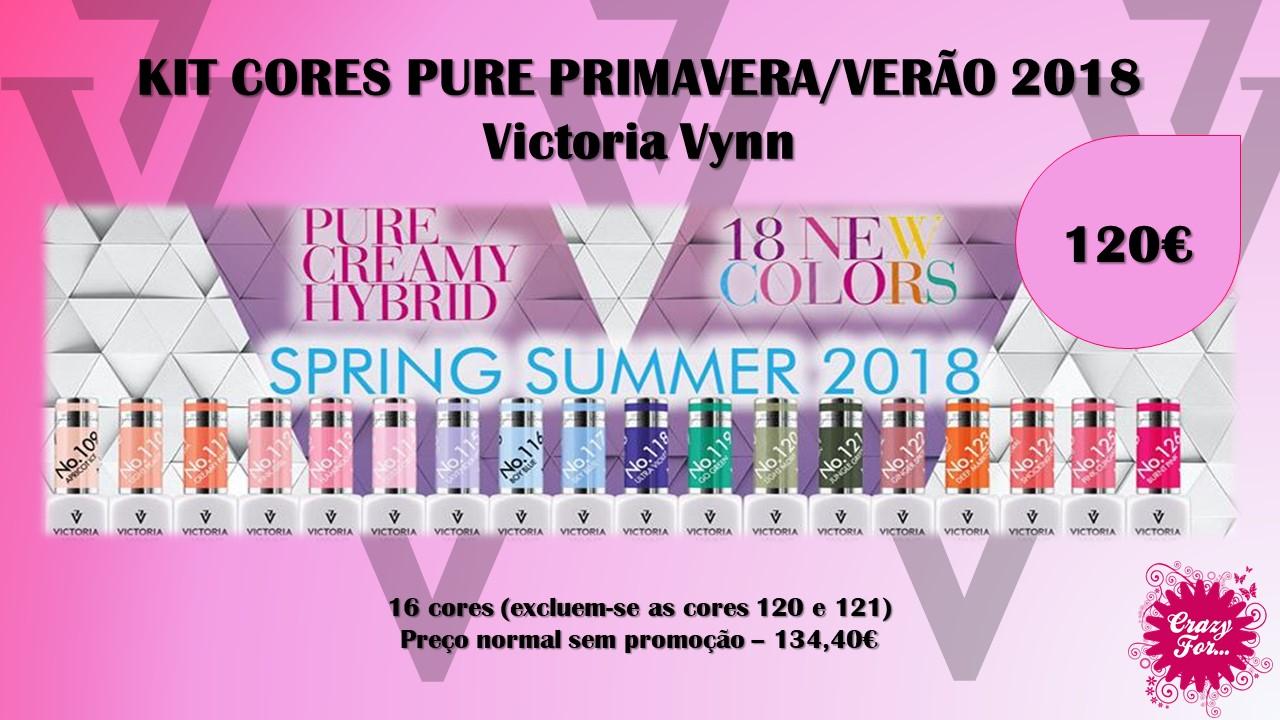 Kit Novas cores Primavera/Verão 2018 Pure Victoria Vynn