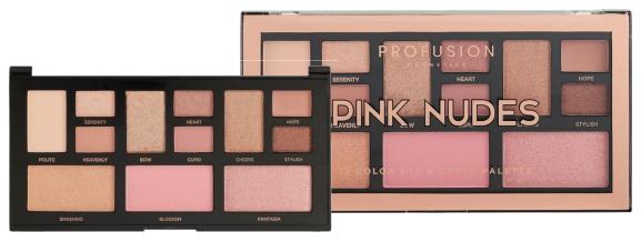 "PROFUSION- Artistry Mini - sombras, iluminador e blush ""PINK NUDES"""