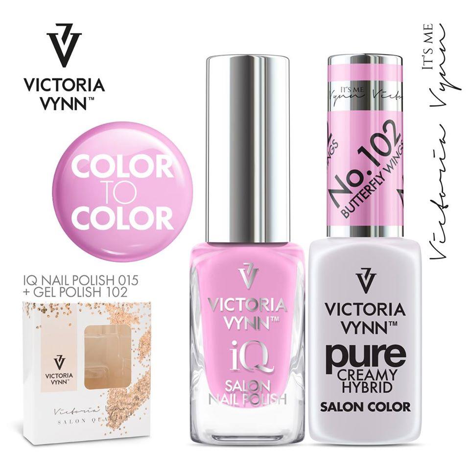 Conjunto Verniz iQ + Verniz Gel Victoria Vynn - 015