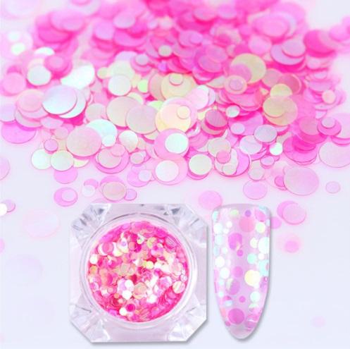 Círculos Rosa - Mix Tamanhos
