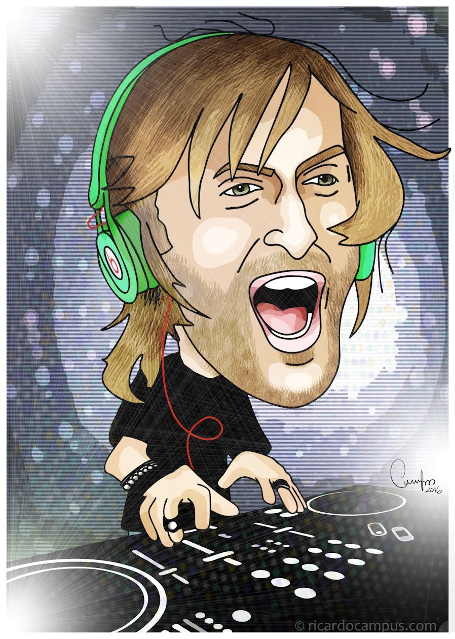 Caricatura de David Guetta