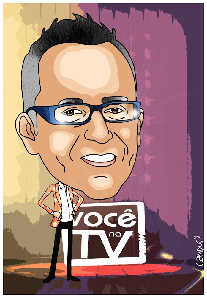 Caricatura de Manuel Luís Goucha