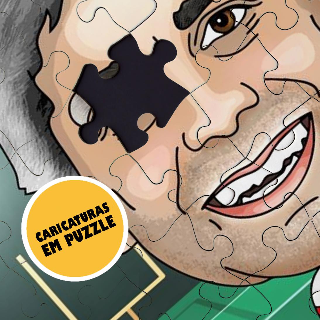 Caricaturas em Puzzle