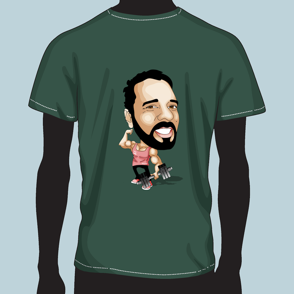 Caricatura em T-Shirt