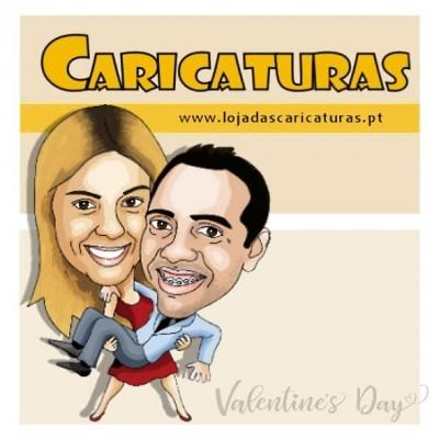 Caricatura Dia dos Namorados