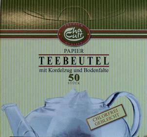 Filtro de Bule para chá com fio (tipo saqueta) – 50 Unidades