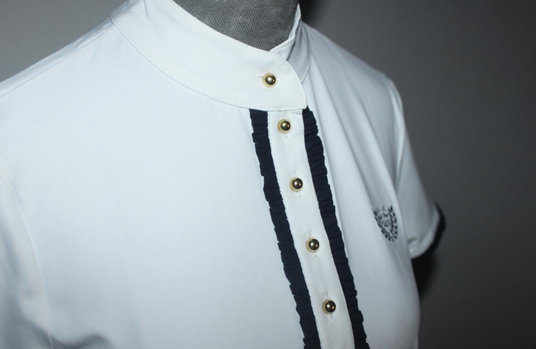 Camisa com folho simples Azul Marinho, M&M.Design