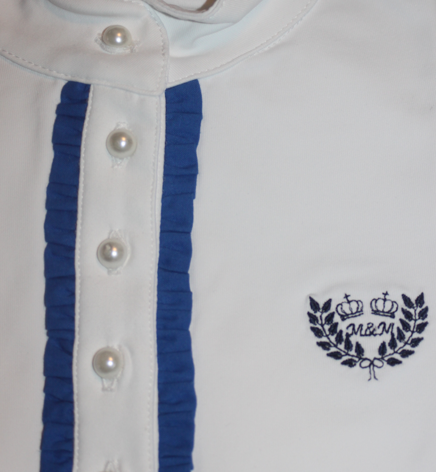 Camisa com folho simples Azul Royal, M&M.Design