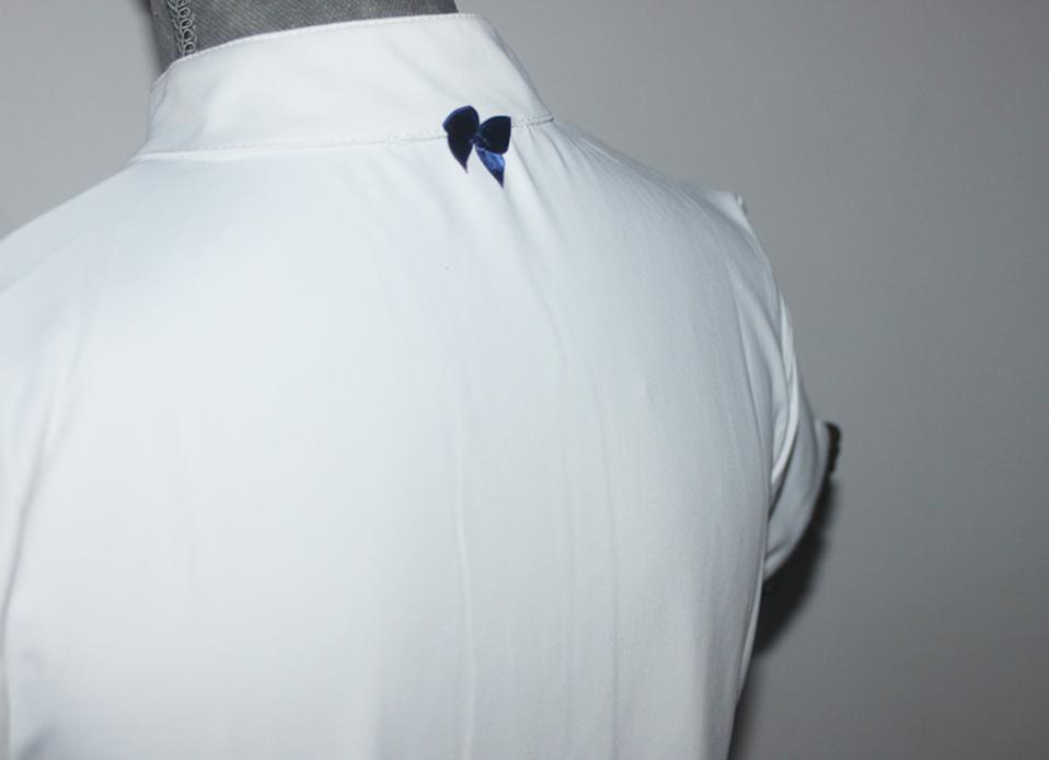 Camisa com duplo folho Azul Marinho e Dourado, M&M.Design
