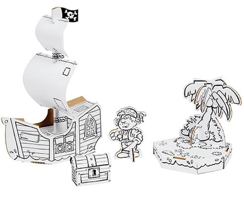 Bateau pirate - Carte