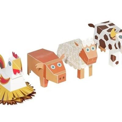 Animais da Quinta - Brinquedo de Papel